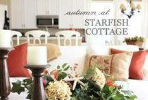 Coastal fall decor / Fall decorating ideas for coastal/beach houses.