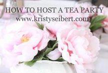 Tea Party Ideas / Fabulous seasonal, holiday and themed tea party ideas!