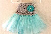 Knit and crochet- Baby/ Little girl- Dresses