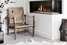 A Cozy, Modern Cabin / Rustic alpine accents + ideas! Bring home ski house style with daring details with alpine inspiration in rich wood and natural leather. Match a set of cowhide side chairs and a carved coffee table to create an inviting gathering space that's perfect for apres ski appetizers. Complete the space with faux taxidermy for a modern twist on the lodge look.  / by AllModern