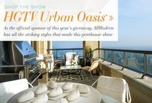 HGTV Urban Oasis 2014 / AllModern fully furnished this year's HGTV Urban Oasis. Love the look? Now you can shop it room-by-room on AllModern.com/UrbanOasis!  / by AllModern
