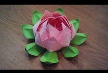 Origami, paper crafts and orinuno / Origami, Orinuno (Origami em Tecido), Paper Craft