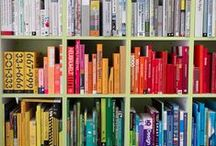Bookshelf Rainbow! / Do you not LOVE the trend of the ombre rainbow of books on a bookshelf! Here are some fun ideas from Atlantic Solutions on how to jazz up your bookshelves in your home or office!