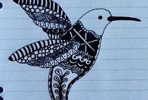 Doodles / Zentangles / Des gribouillis ...