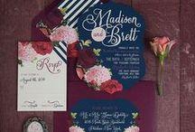 Wedding Stationary / Beautiful wedding stationary and correspondence. Save the Dates, invitations, programs, thank yous, etc.