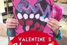 Valentine's Day and Lovely Ideas / Art projects, crafts and food for Valentine's Day!