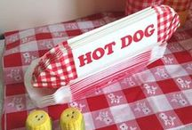 Gingham Picnics / Card holders,  favors, centerpiece, Gingham party supplies for outdoor #picnics, cafes, cookouts 4th of July and barbecues. #gingham, #tablecloth