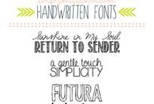 Lettering and Fonts / by Mandy Entwistle