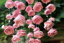 Flores de telas