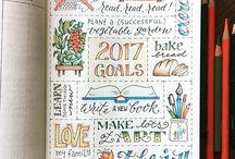 Planner and bullet journal inspiration / Inspiration for bullet journaling. Planner inspiration. Planner art and stickers. Erin condren. Happy planner.