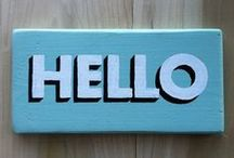 art WALL signs/letters / by Theresa Rentaria