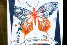 Cards, butterflies