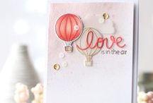 Cards, hot air balloons