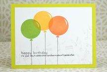 Cards, balloons