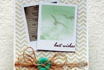 Cards, embellished