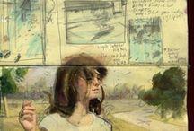 a sketchbook or journal