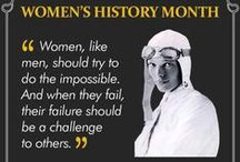 International Women's History Month / We pay homage to the women who helped shape history. Some of our favourite role models are humanitarians, others our chemists or athletes, but what they all have in common is that they had a vision that made them propel society forward and a spirit that would not give in at the face of adversity.  / by LivingSocial UK and Ireland