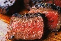 FOOD meat STEAK / by Theresa Rentaria