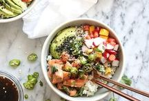 Bowls to Nourish | Poke / Hawaiian poke dishes and variations of this famous bowl