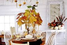 """FAll / Thanksgiving / """"Delicious autumn! My very soul is wedded to it, and if I were a bird I would fly about the earth seeking the successful autumns."""" ~George Eliot  / by Julie L. Light 💕FabulousFindsStudio"""