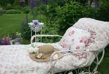 """For MY Patio,Porch&Yard / Inspired by Rachel Ashwell Shabby Chic. """"To be happy at home is the ultimate result of all ambition.""""~ Samuel Johnson"""