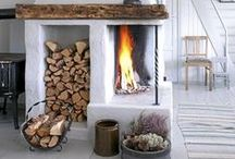 FIREPLACES / Cozy fireplaces / by Lindsay Marcella