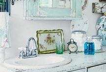 """For MY Master Bath. Shabby Chic Style... / Inspired by Rachel Ashwell's Shabby Chic and Fabulous French Decor.  """"How we care for our home is a subtle but significant expression of self-esteem.""""~Sarah Ban Breathnach, Simple Abundance"""