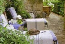 """French Style: Outdoor Spaces / """"Home is the heart of life... Home is where we feel at ease, where we belong, where we can create surroundings that reflect our taste and pleasures... Making a home is a form of creativity open to everyone."""" ~Terence Conran"""