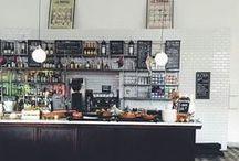 Butik- och cafeinredning ~ Bakery and coffee shop interior