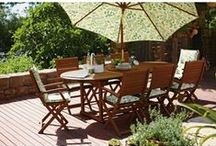 Garden Furniture 2015 / Enjoy summer at home ....Sunbathing in the garden with a long drink and a good book? Or entertaining friends with a BBQ and beer? However you like to relax outside, we have the outdoor garden furniture for you; from hammocks and loungers to dining tables and chairs. / by Homebase