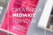 Blogging Media Kit / Examples and information to help you create a media kit for your blog #tips