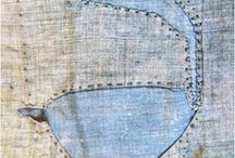 Textiles: Patched and Mended / Beautiful textile pieces, both old and new, that feature patched and mended elements.