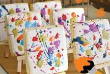 Party: Art/ Messy Party Board / fun ideas for an art party, great for gender neutral parties