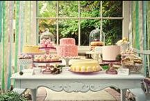   wedding dessert tables   / Love the idea of wedding dessert tables or candy bars at weddings. A collection of glass jars filled with sweets, cake plates piled high with macarons as well as those all important sweetie scoops, paper bags will keep wedding guests happy.  Shop our dessert table range http://www.theweddingofmydreams.co.uk/collections/sweetie-buffets-and-desert-tables