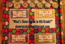 Mrs. Skowronski's Classroom Ideas / All the things I want to use or have used in my 4th grade classroom!