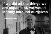 Cool Inventors, Cool wisdom / There is an inventor in each and every single one of us. All we need is an idea, creativity, persistence and, of course, words of encouragement. Here is to the ones who tried and succeeded, as well as to future inventors.