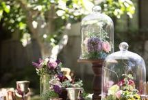   bell jars & cloches wedding   / Bell jars and glass cloches can make lovely wedding decorations. Use them as wedding centrepieces with a vase inside or to house your wedding table numbers.  If you are inspired by our board check out our bell jars available from www.theweddingofmydreams.co.uk