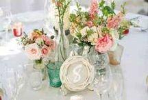   mint green & peach   / Mint green and peach wedding colour scheme ideas and inspiration.
