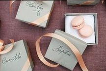   peach & grey   / Ideas and inspiration for peach and grey wedding styling.