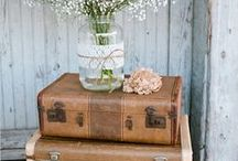   suitcases at weddings   / Thinking of using a suitcase as a prop at your wedding? Check out these ways suitcases could be incorporated into your wedding decor.