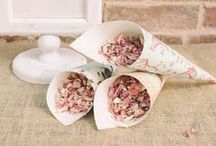   wedding confetti cones   / Are you thinking of giving your guests confetti in paper confetti cones? We have been pinning our favourite confetti cones, you can make them yourself from pretty paper or buy the ready cut paper online. Browse our collection of wedding confetti petals and cones here http://www.theweddingofmydreams.co.uk/collections/petals