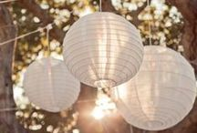   paper lanterns at weddings   / Inspiration for using paper lanterns at weddings. Hang from the ceiling of your venue at different heights for an amazing look.  Shop paper lanterns in our online shop http://www.theweddingofmydreams.co.uk/collections/hanging-decorations