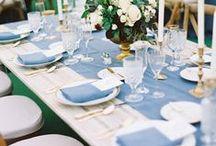   dusky blue   / Dusky blue wedding decor, ideas and inspiration