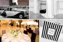Labola Blk+White Stripe Wedding