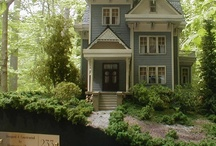 Miniature DOLLHOUSES Traditional / Fascinating and beautiful dollhouses. Victorian, Tudor, Farmhouse, Cottage, etc. Doors, windows, stairs, and other finishing touches for dollhouses. / by Ronda