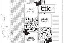 Scrap It / Scrapbook layouts and sketches