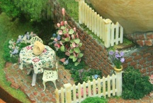 Miniature PATIOS, PORCHES, YARDS, GARDEN SHEDS, GREENHOUSES & OUTDOOR AREAS / All of the wonderful areas on the outside of your dollhouse. Scenes and finished outdoor miniatures are on this board. Individual plants and other outdoor accessories are on accompanying boards. / by Ronda