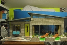 Miniature DOLLHOUSES MODERN STYLE / I love all dollhouses, but modern style dollhouses are my favorite! There are vintage dollhouses on this board, but all reflect a modern style of an era - mid century modern, art deco, etc. Enjoy!  / by Ronda