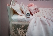 """Barbie Bedrooms / 1:6th Scale Beds, Vanities, and Bedrooms for Blythe, Barbie, Fashion Royalty, Integrity, Silkstone, 10-12"""" Dolls, etc.  / by Ronda"""