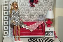 "Barbie Living Rooms / 1:6th Living Rooms and Furniture for Blythe, Barbie, Fashion Royalty, Integrity, Silkstone, 10-12"" Dolls, etc.  / by Ronda"